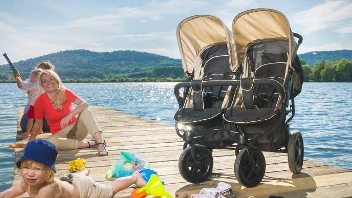 Hauck Kinderwagen für 2 gleichaltrige oder Kinder oder Geschwister mit Altersunterschied